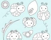 ladybug digital stamps lady bugs - Lovely Ladybugs Stamps