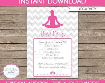 Yoga invitation etsy stopboris Gallery