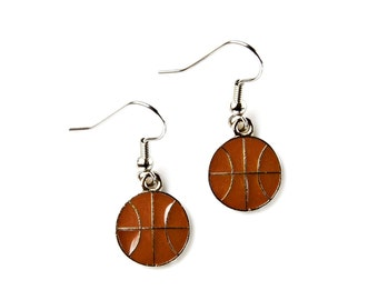 Basketball Earrings - Accessories - Women's Jewelry - Gift Idea - Handmade - Gift Box Included
