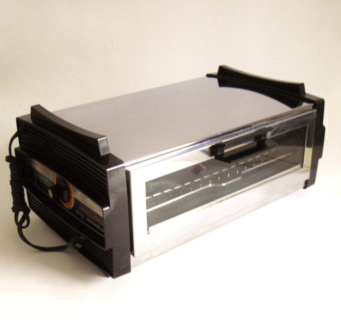 Toastmaster Toaster Oven Broiler Chrome 1970s