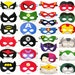 8 felt Superhero Masks party pack - Wholesale - YOU CHOOSE STYLES - Dress Up play costume accessory package - Birthday gift for Boys Girls