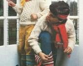 Vintage Crochet Pattern Childrens Slipper Socks Boot PDF Pattern - INSTANT DOWNLOAD