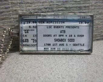 ATB concert ticket stub necklace