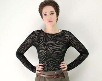 Black women's shirt, Black blouse, Black lace, Black lace top, Black top, Lace top, Black zebra shirt, Black vegan shirt, Elegant shirt