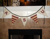 ASU Sun Devils Football Burlap Banner. Sports Banner. College Football Banner. Tailgating. Football Party Time.