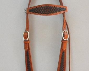 Headstall with Applique Braid Accents