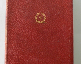vintage book, Santa teresa de Jesus, red leather bound from Diz Has Neat Stuff