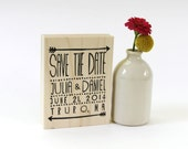 Arrow Save the Date, rustic wedding stamp
