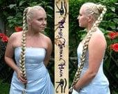 CUSTOM Color RAPUNZEL BRAID 90 cm/ 36'' long Medieval Renaissance wedding hair piece Bride hair accessory wiglet Formal bun Chignon updo wig