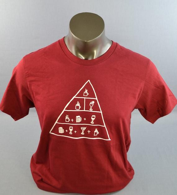 Mens Funny T-Shirt, Maslow, Alcohol shirt, Beer TShirts, Drinks T-Shirt,