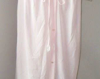 Vintage Robe Seamprufe Nylon Peignoir Dressing Gown Pink