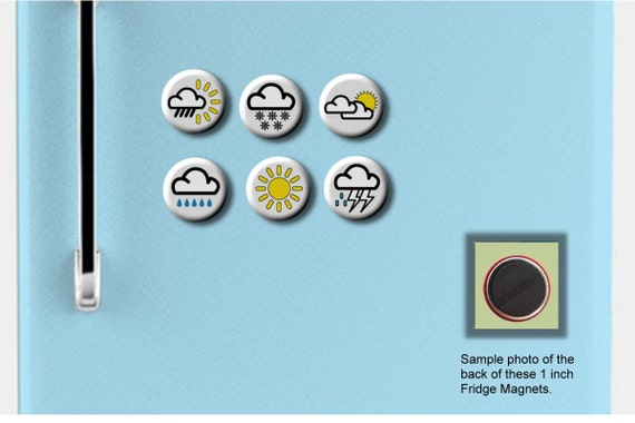 Weather Forecast Map Symbols Meteorology Set Of 6 Hand Pressed