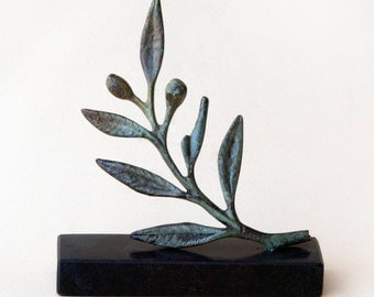 Bronze Olive Branch, Metal Art Sculpture, Museum Quality Art, Greek Art, Olive Sculpture, Goddess Athena Symbol, Ancient Greece, Olives