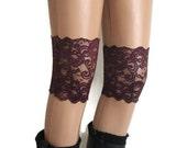 Elastic Lace Boot Cuff Socks Womens Boot Socks Lace Boot Topper Lace Boot Black Mulberry Socks .