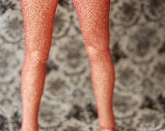 SD Feeple60 Pink And Gold Sparkle Stockings For BJD