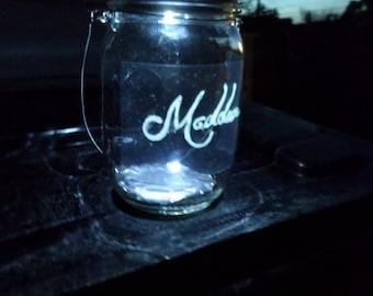 Outdoor Solar Lights Hanging Mason Jar Light