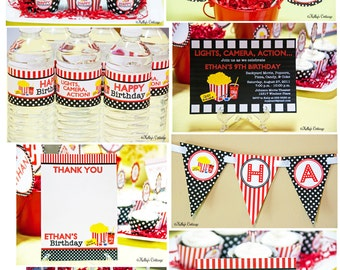 Movie Night Birthday Party Mini Package...Custom, Printable DIY Package