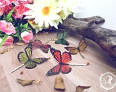 Butterfly hair clip. Choose your favorite color. 1 Multicolor Monarch butterfly. Butterfly hair piece butterfly, bridesmaid hair accesory
