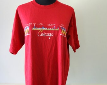 Vintage Chicago the Windy City T-shirt 1980s