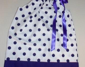 Large Purple Dots Pillowcase Dress