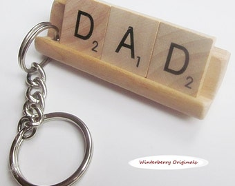 DAD Scrabble Keychain
