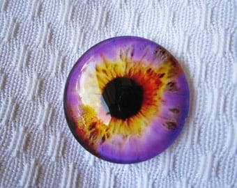 Glass 30mm cabochon for jewelry making