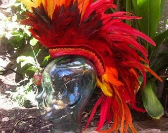 """Feather Mohawk / Headdress - """"The Phoenix V2"""""""