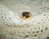 "Avon 1987 ""Sleek Sculpture"" Golden Ring Size 10"
