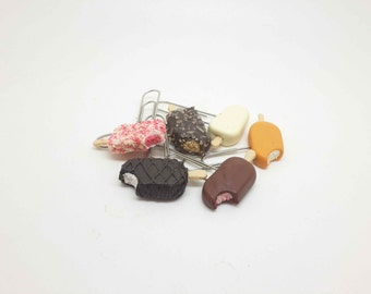 Novelty Paperclips with Miniature Icecream Bars