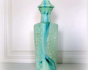 Cool Vintage Liquor Bottle Jadeite Glass Marble