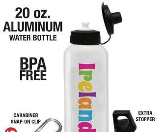 Personalized Water Bottle - Girls Personalized Water Bottle - BPA FREE Water Bottle - School Lunch Water Bottle