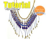 Fringed Necklace MicroMacrame Tutorial. Macrame Pattern