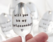 Will You Be My Bridesmaid. Stamped Coffee Spoon: gift from the bride, gift for bridesmaids, wedding. As Seen on Style Me Pretty