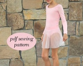 Ballet leotard ballet skirt pdf sewing pattern Ballet Basics 2 ebook tutorial girls sizes 1-14