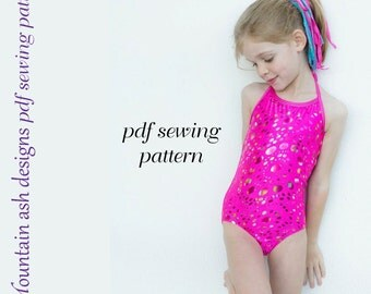 Alexis Leotards and swimsuits sewing pattern girls sizes 1-14
