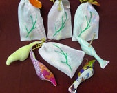 Fabric bird grab bag (without hangers)