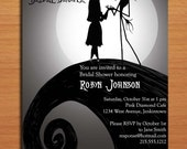 Nightmare Before Christmas Bridal Shower Customized Printable Invitations /  DIY