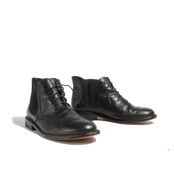 cole haan country black leather lace up ankle by