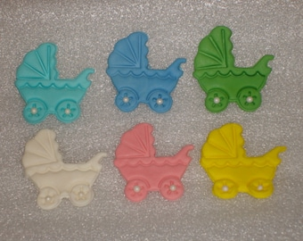 Gumpaste Baby Carriage / Stroller Cupcake Toppers