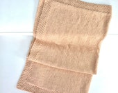 Hand made - Baby blanket - Soft - Beige - Merino
