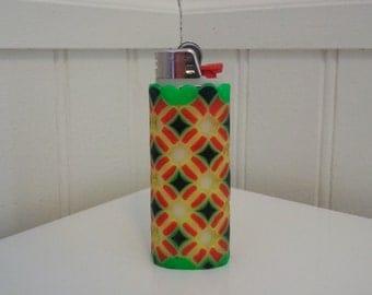 Complex Rasta Perler Bead LIGHTER CASE - ultraviolet - 420 - cannabis - weed - pot - bob marley