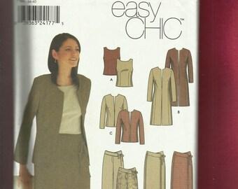 Simplicity 9327 Fashion Forward Wardrobe Pattern Sizes 6 to 12 UNCUT