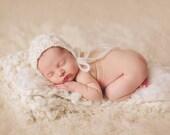 Knitting Pattern -Wild Oats Newborn Bonnet - Newborn Photography Prop