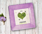 Valentines Day gift Idea for couples - Unique Wedding Gift - 1st anniversary gift - Couples Keepsake - Wedding Invitation Plate - heart