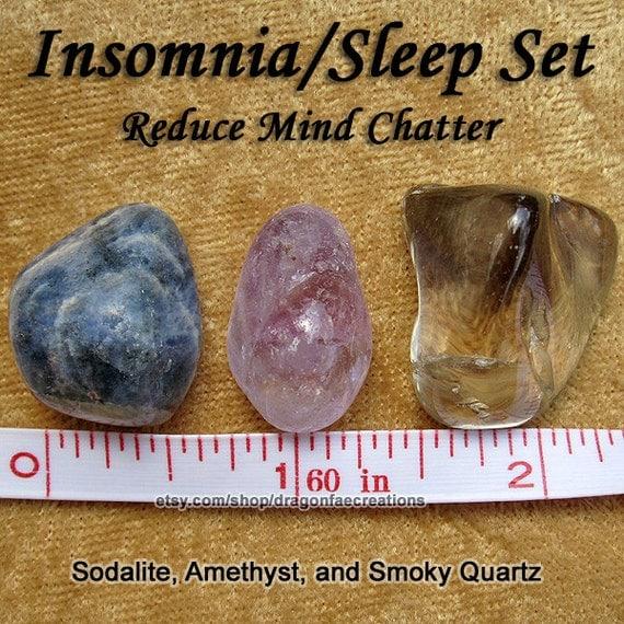 Insomnia Sleep Nightmares Sweet Dreams Crystal Healing Set