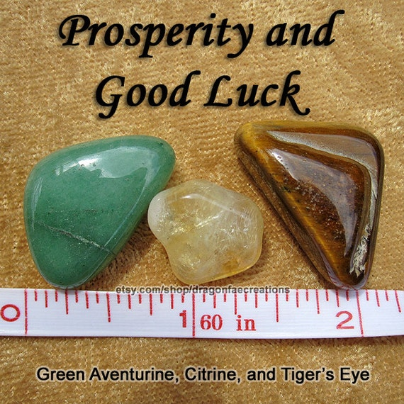 Prosperity And Good Luck Crystal Healing Set Citrine Green