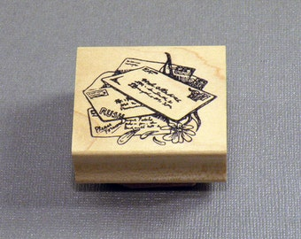 Victorian Mail Art Letters Rubber Stamp