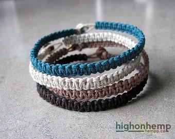 Nautical Bracelets, Neutral Bracelets, Minimalist Bracelets, Set of 4 Bracelets, Hemp Bracelets