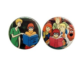 Scooby doo - button badge or magnet 1.5 Inch