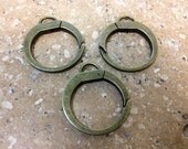 Large Antique Bronze Style Clasps - 5 Count